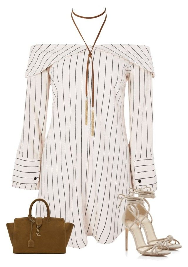 """""""Untitled #1927"""" by iammelissa ❤ liked on Polyvore featuring Topshop, Alexandre Birman and Yves Saint Laurent"""