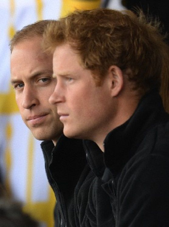 The Duke of Cambridge and Prince Harry attend the Invictus Drumhead Service at the Lea Valley Athletics Centre, London, UK on 11.09.2014