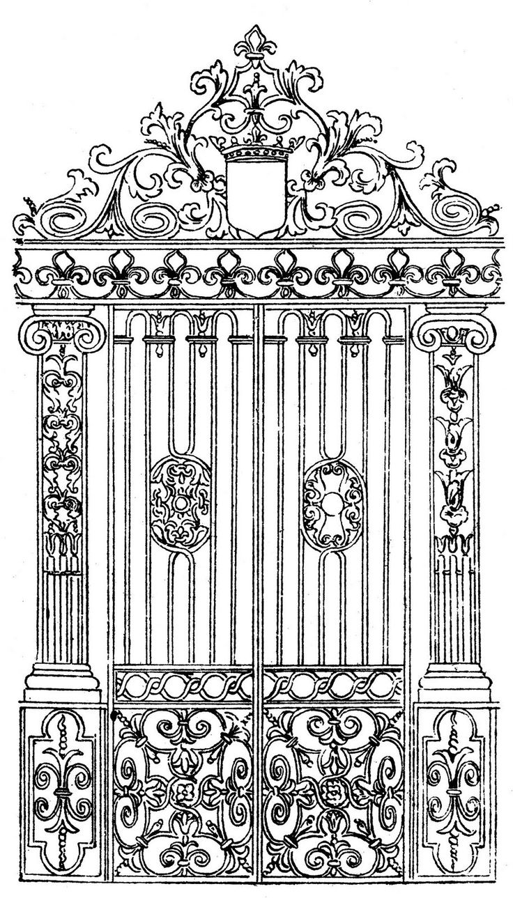 Images For > Garden Gate Clipart