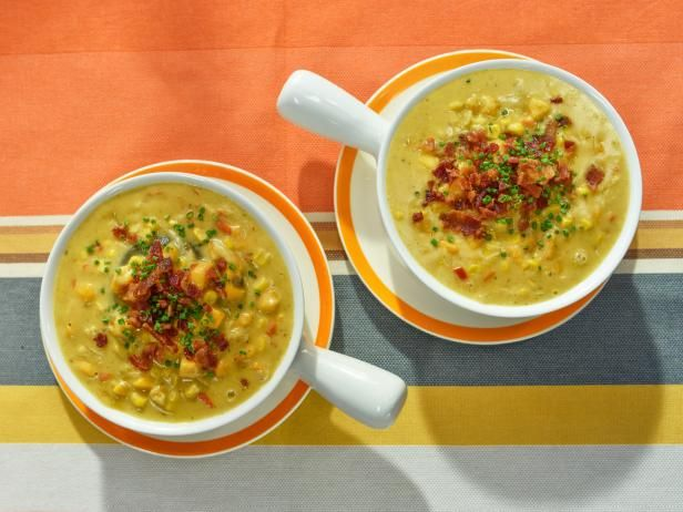 Get Sweet Potato and Corn Chowder Recipe from Food Network