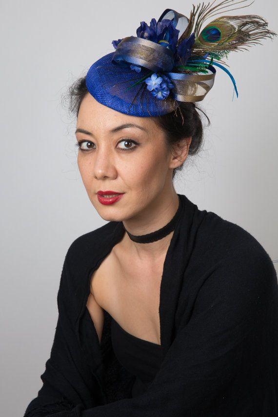 Blue fascinator royal blue fascinator hat by FascinatorsFirst