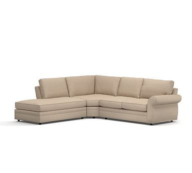 by piece sectional blend roll crypton sofa cushions wrapped best performance pearce stone home collections images on arm down wedge potterybarn right bumper upholstered everydaylinen