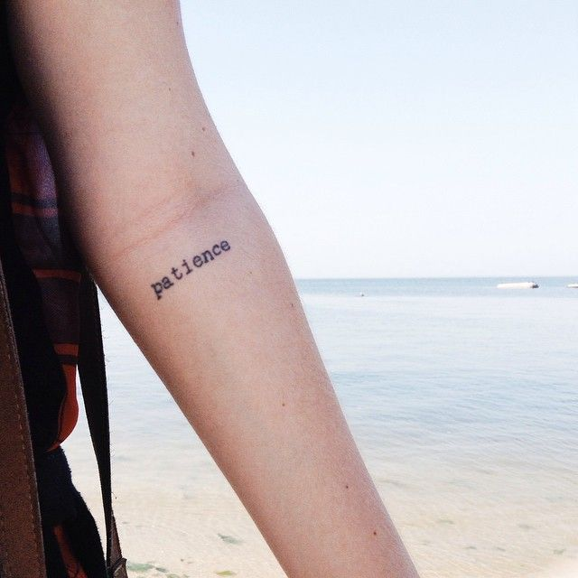 25 best ideas about patience tattoo on pinterest small for 333 tattoo meaning