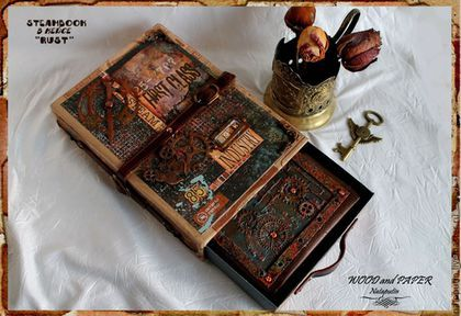 """Блокноты ручной работы. Ярмарка Мастеров - ручная работа. Купить Steambook в кейсе """"Rust"""". Handmade. Стимпанк, блокнот ручной работы"""