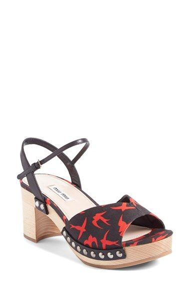 Miu Miu 'Zoccoli' Clog Sandal (Women) available at #Nordstrom