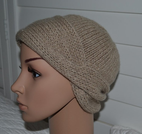 Pure Cashmere Hat Chemo Hat - Nola Cloche - Medium Tan Color. $37.00, via Etsy.
