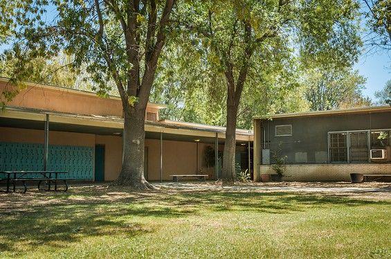The main courtyard at Charles Evans Hughes Junior High SchoolThe main courtyard at Charles Evans Hughes Junior High School