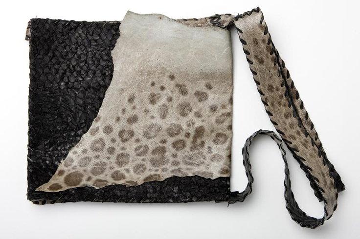 #handbag made of fish leather (wolffish)   Design by Sigríður Káradóttir
