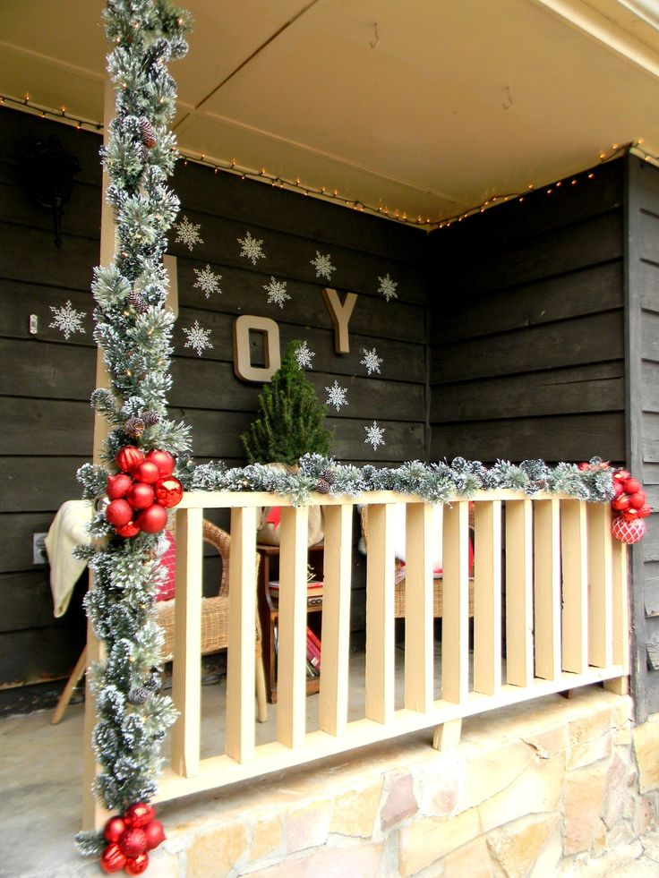 front porch christmas decorating ideas country christmas christmas pinterest christmas porch christmas and christmas decorations - Christmas Porch Railing Decorations