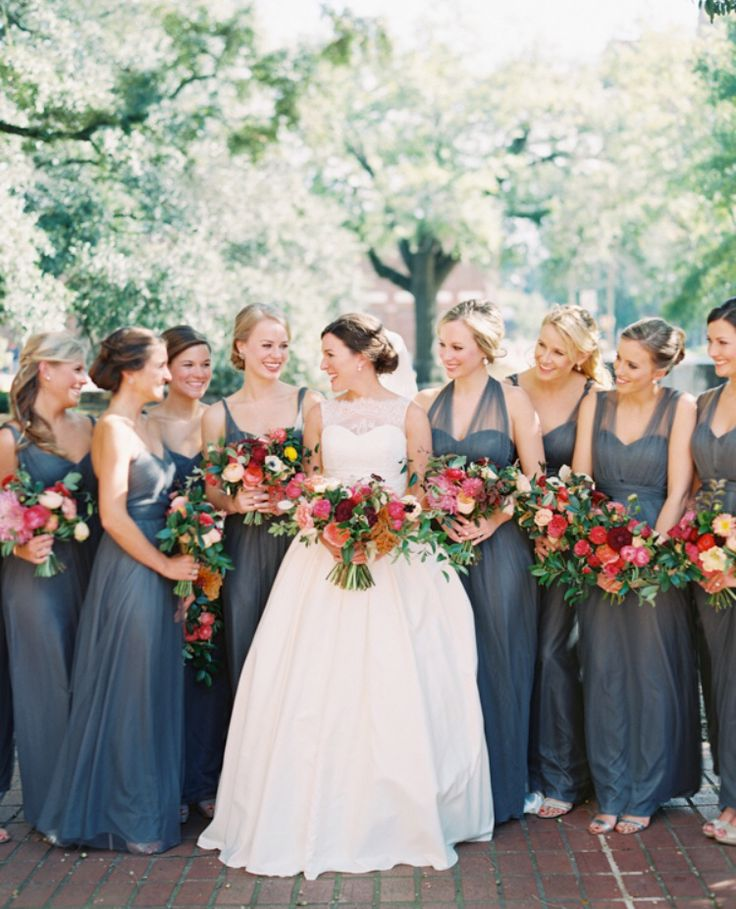 Long Blue Tulle Convertible Dresses by Jenny Yoo