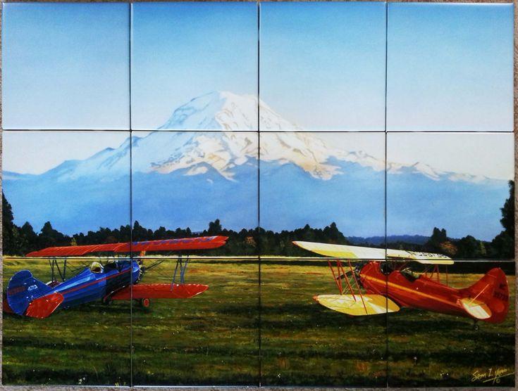 44 Best Custom Printed Tile Mural Backsplash Images On