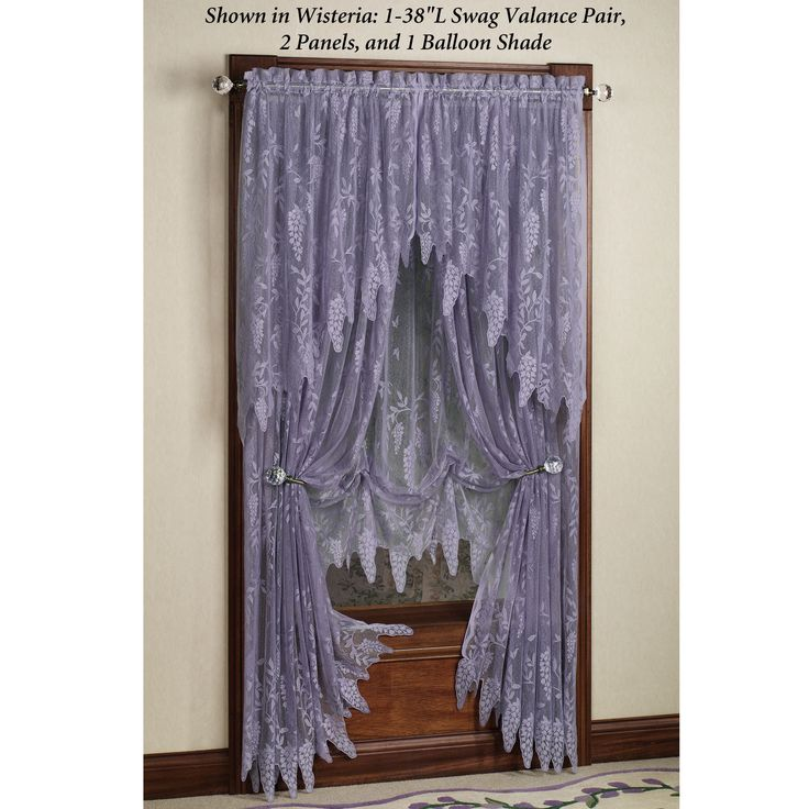 lace+curtains+and+valances+|+Home+>+Wisteria+Arbor+Lace+Valances+and+Curtain+Panels