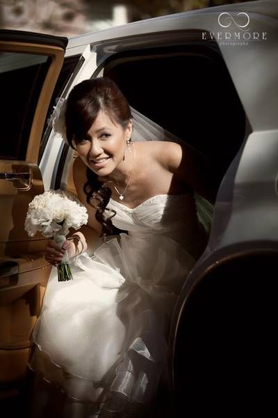 Beautiful Bride in Perth. Classic White Bellagio Limousines Chrysler. EVERMORE Photography