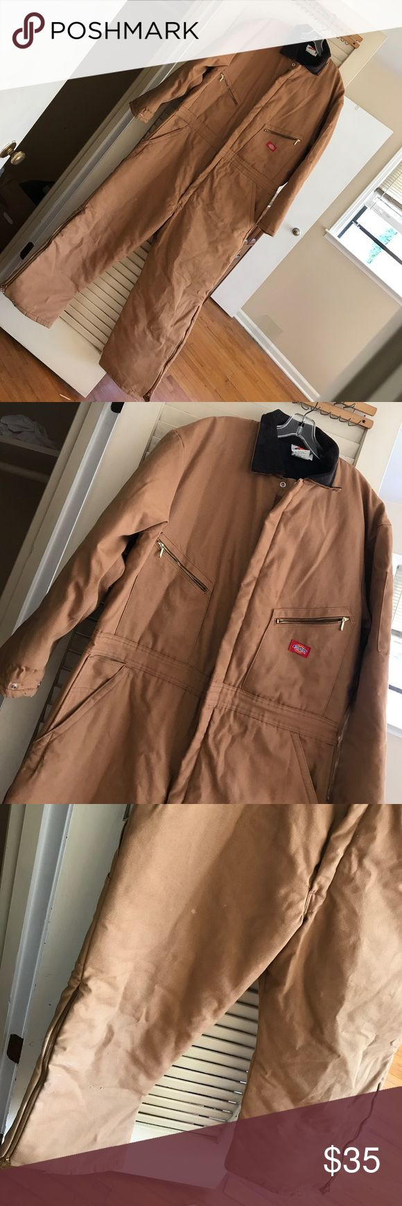 Dickies Men's insulated Coveralls Gently used Dickies men's insulated coveralls in great condition! Only a few barely noticeable spots. This suit has a lot of life left in it! Sz 46-48 SH Dickies Jackets & Coats