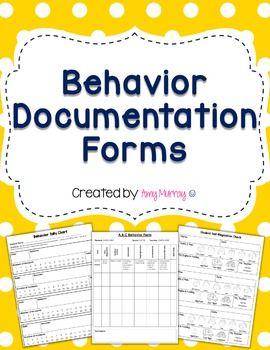 Behavior Documentation Forms (editable!) Find them here: https://www.teacherspayteachers.com/Product/Behavior-Documentation-Forms-Editable-2295419