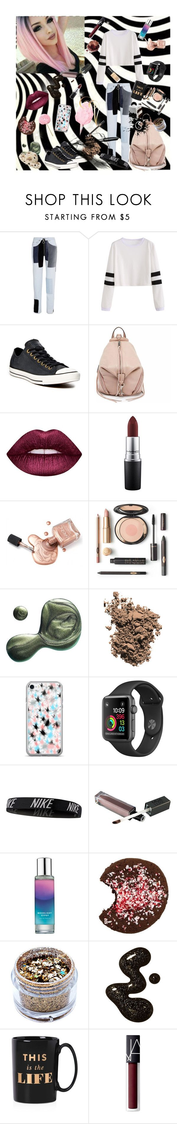 """🦄"" by p0livore ❤ liked on Polyvore featuring Off-White, Converse, Rebecca Minkoff, Lime Crime, MAC Cosmetics, Illamasqua, Dolce&Gabbana, NIKE, Pinrose and In Your Dreams"
