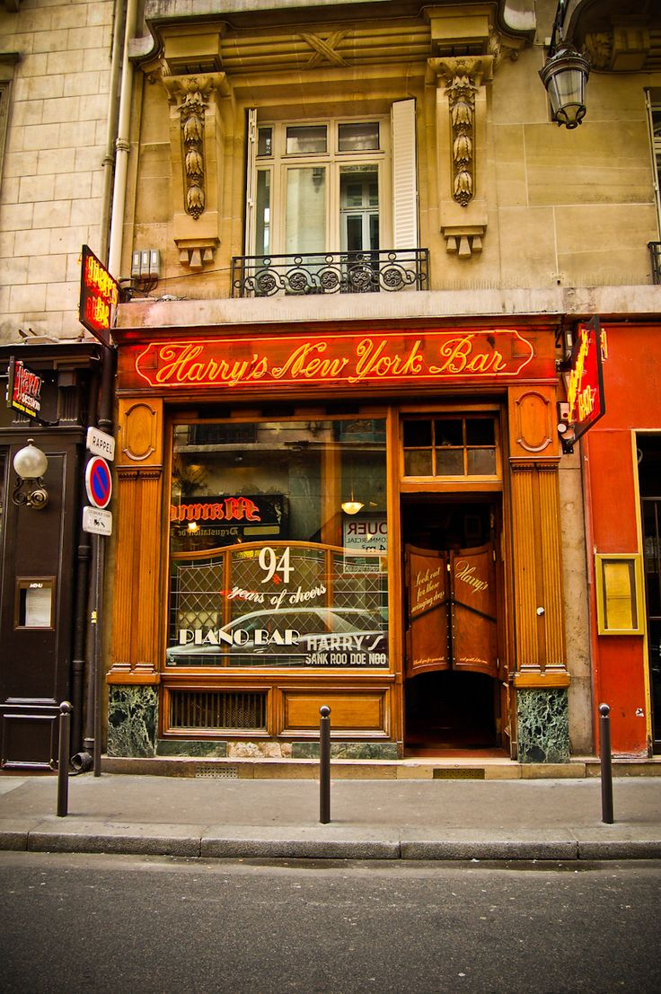 Harry's New York Bar, Paris, since 1911. ~ A Hemmingway hangout and birthplace of the Bloody Mary.