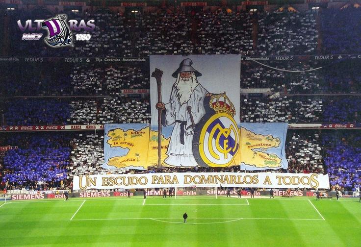 Real Madrid Tifo: Un escudo para dominarlos a todos!!!
