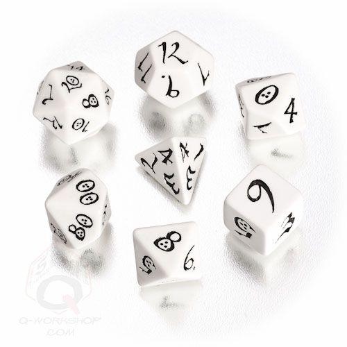 White-black Classic RPG dice