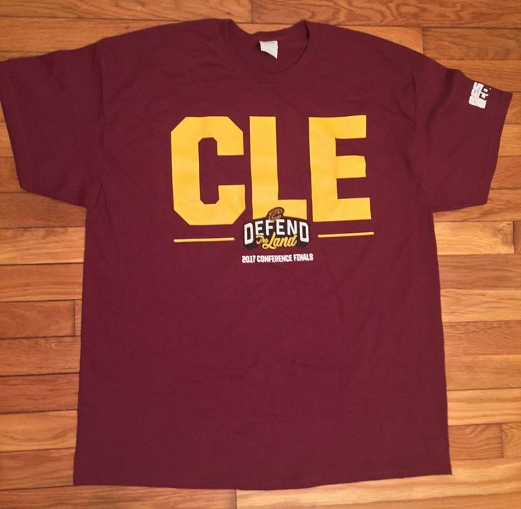 Cleveland Cavaliers Defend The Land CLE Wine T Shirt XL 2017 Conference Finals  | eBay