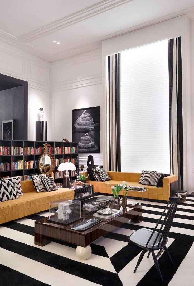 1000 idees sur le theme tapis noir et blanc sur pinterest for Tapis couloir avec canapé osier rotin 2 places