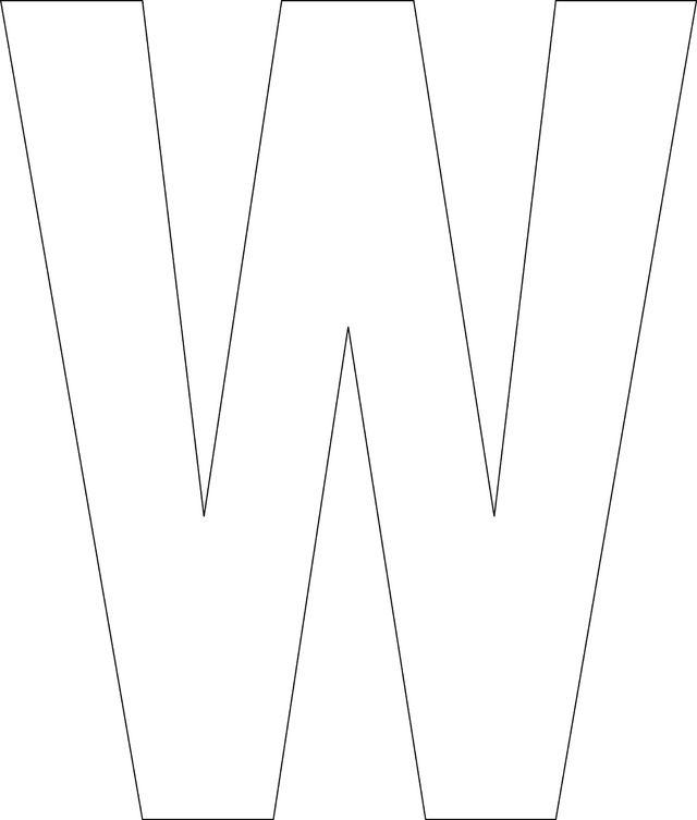 Free Printable Lower Case Alphabet Template: 'w' - Free Printable Lower Case…