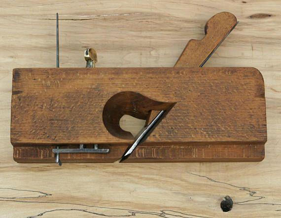 Primitive Very Rare 1890s Dado Wood Plane Greenfield Tool Co.