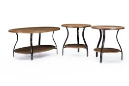 Baxton Studio Newcastle Wood and Metal 3-Piece Table Set Chicago furniture, Chicago furniture stores, furniture in Chicago,Newcastle Wood and Metal 3-Piece Table Set, Living Room Furniture Chicago