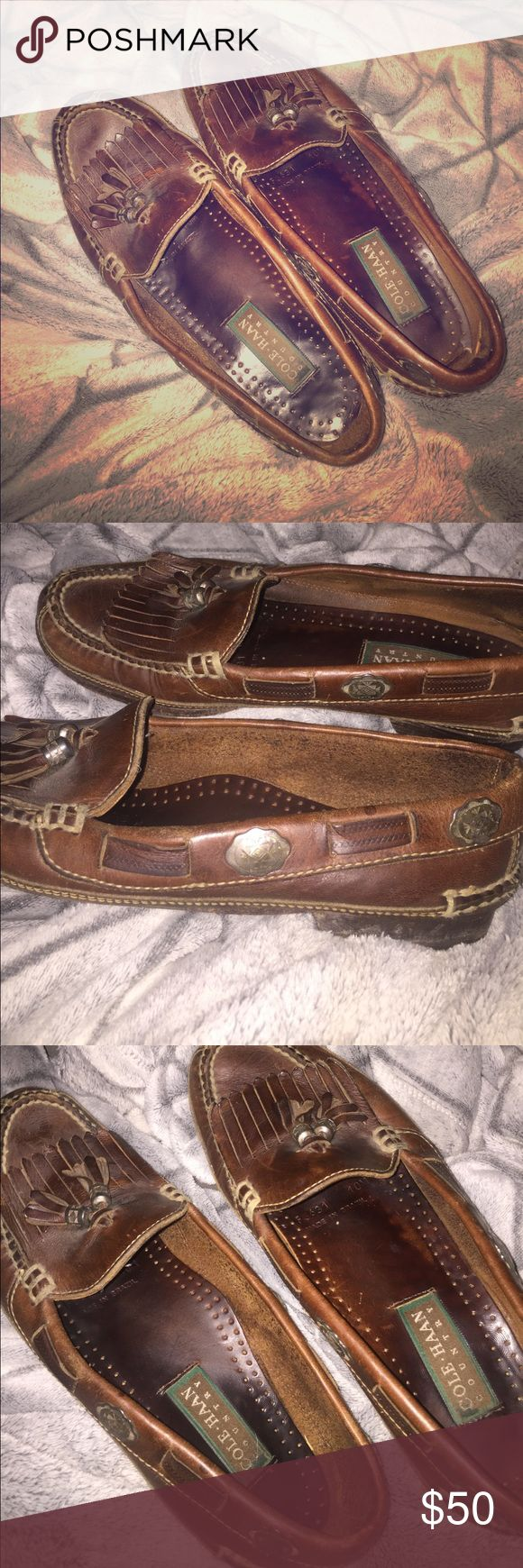 Cole Haan brown leather loafers Cole Haan brown leather loafers Cole Haan Shoes Loafers & Slip-Ons