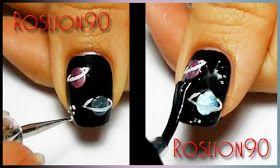 Roslion90 Nails & Co.: Galaxy Planet Nail Art