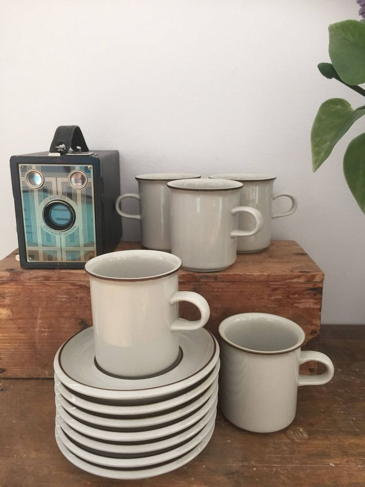 6/arabia/fennica/coffee cups/saucers/ Finnish design/ulla Procope/Richard Lindh by WifinpoofVintage on Etsy