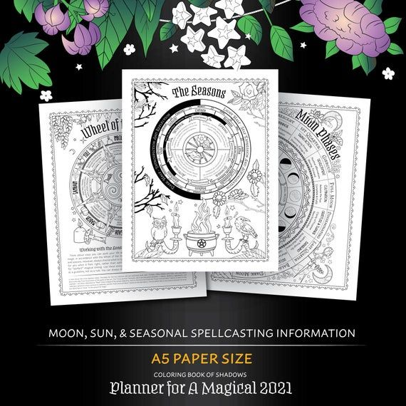 A5 Size Planner For A Magical 2021 Printable Pdf Grimoire Etsy Grimoire Book Of Shadows Practical Magic