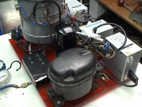HHO Machine with a compressor of a freezer