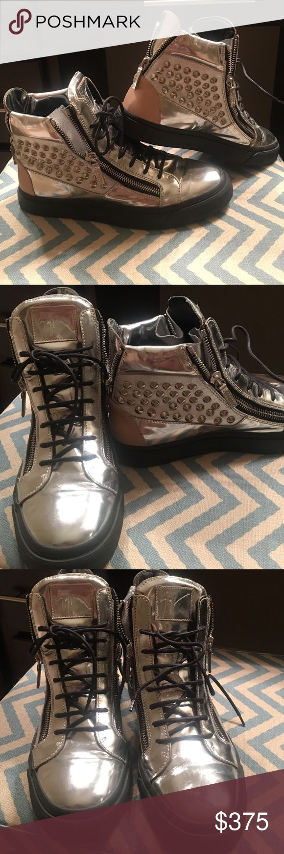 Men's Giuseppe Zanotti Sneakers Super dope pair of men's Giuseppe sneakers. Worn 1-2x and in excellent condition. No missing studs. Great addition to your wardrobe! Giuseppe Zanotti Shoes Sneakers