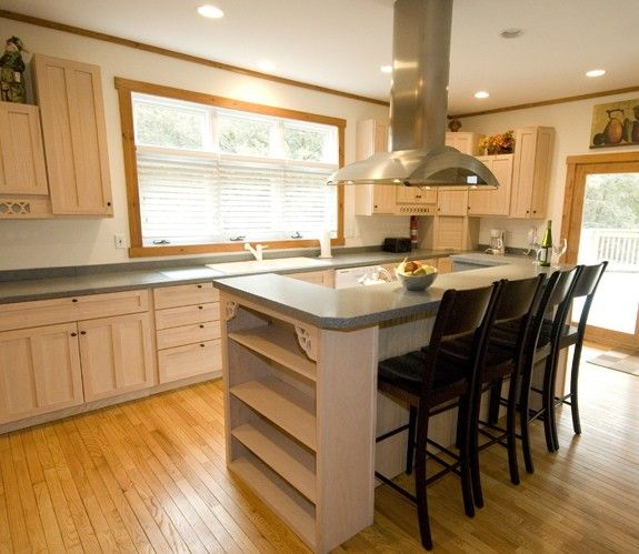 Kitchen Island With Seating And Shelving