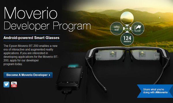 Moverio : Epson dévoile un SDK et un AppStore pour ses lunettes connectées