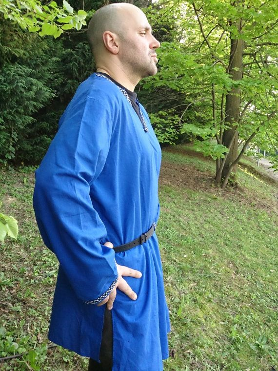 MADE TO ORDER  Blue Celtic Tunic Cotton by RavenThreadsLab on Etsy