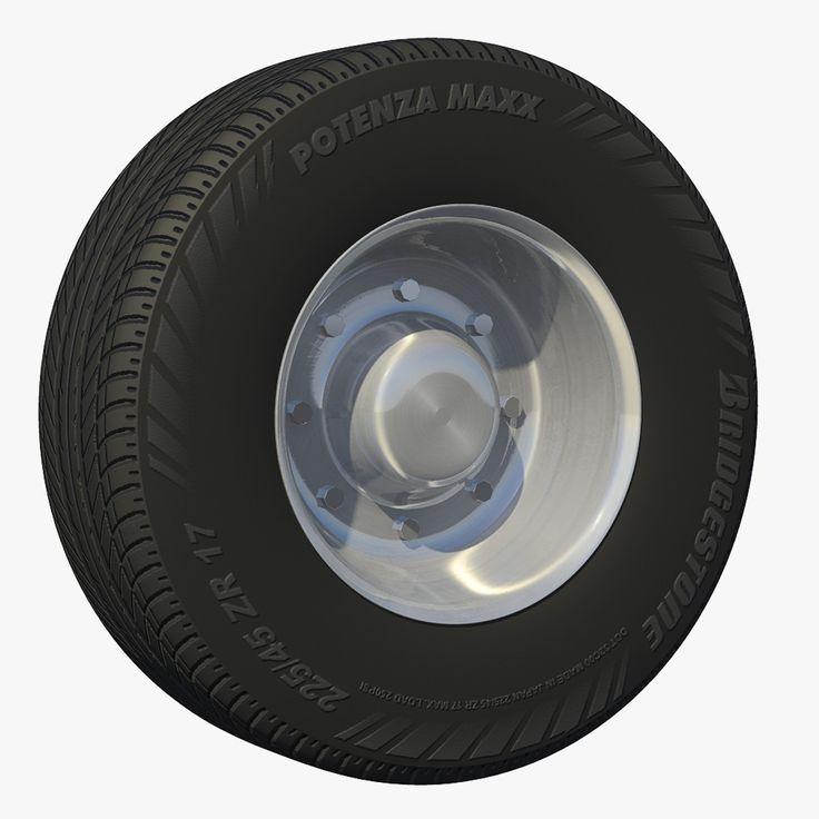 3D Model Wheel Lowboy Trailer - 3D Model