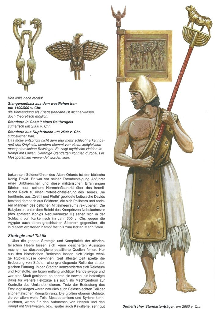 Sumerian standard bearer and standards | Middle East ...