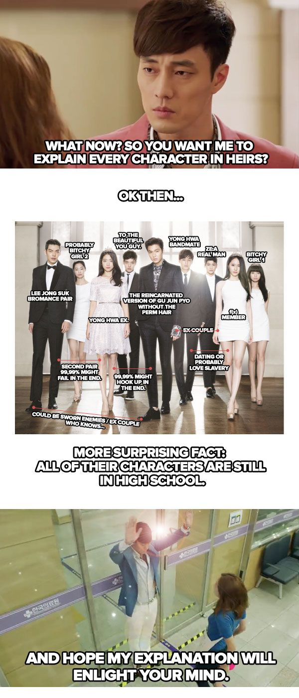 Joo Jung Won explainig Heirs... It would priceless if it was real (FYI, his aunt is Cha Eun Sang's mom...)
