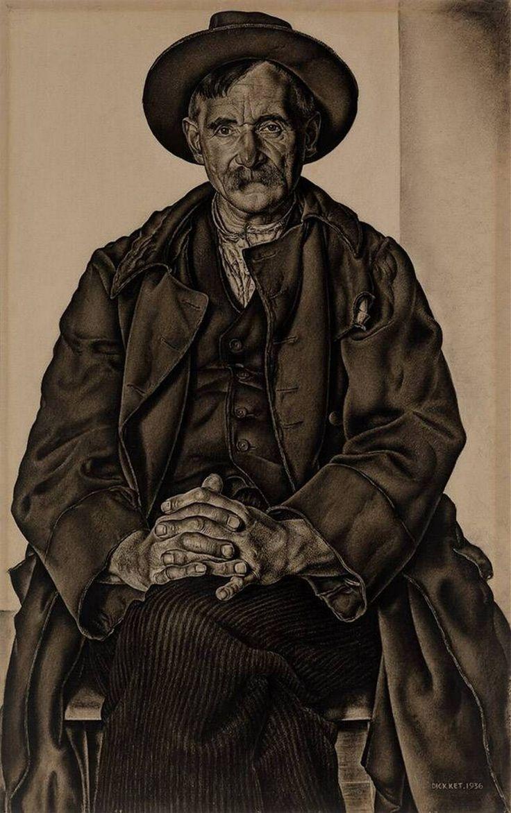 Portrait of the Artist's Father - Dick Ket, 1936 | Collection Boijmans