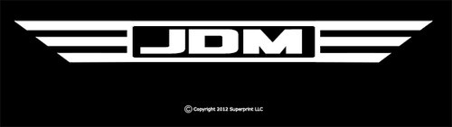 JDM Wings, Japanese Domestic Market Decal.  Honda, Mitsubishi, Vtec, Subaru.