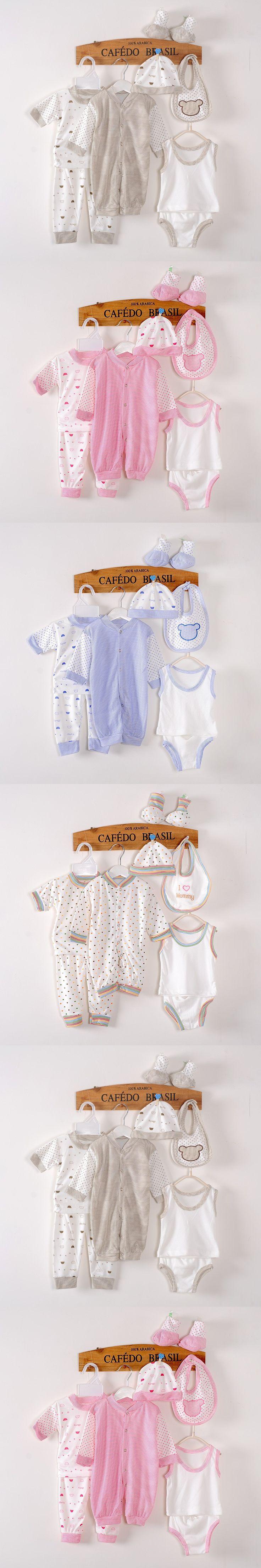 8PCS/0-3M/High quality Band 2016 new Spring summer autumn newborn clothing set 100% cotton new born baby boy girl clothes