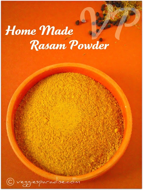 Rasa Podi, the spice mix that flavors the dish rasam is made everyday in Tamil Nadu.