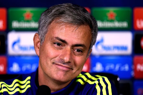 Chelsea manager Jose Mourinho speaks to the media during the Chelsea FC Press Conference ahead of the UEFA Champions League Group G match against NK Maribor at the Chelsea training ground on October 20, 2014 in Cobham, United Kingdom