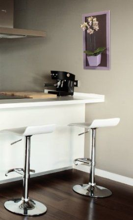 Kalamitica 26 x 53cm Metallic Plate with Lilac Wooden Frame - Chestnut: Amazon.co.uk: Garden & Outdoors