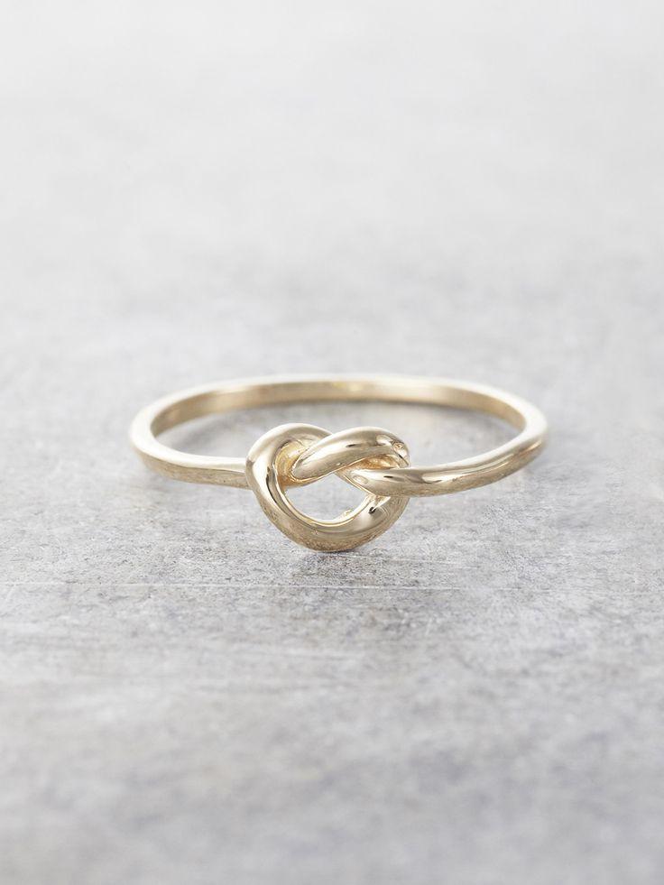 14K Promise Knot Ring