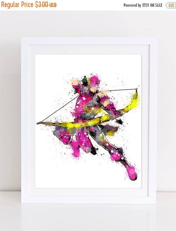 60%OFF hawkeye watercolor hawkeye avengers avengers poster