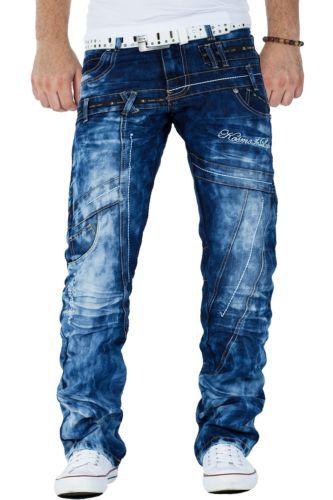 KOSMO Lupo Uomo Jeans STAR CARGO PANTALONE DENIM Dope Swag Zipper Clubwear  BORCHIE 2005a3f045