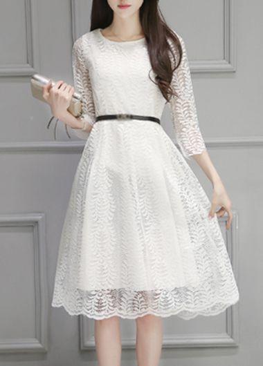25  best ideas about White lace dresses on Pinterest   Lace dress ...